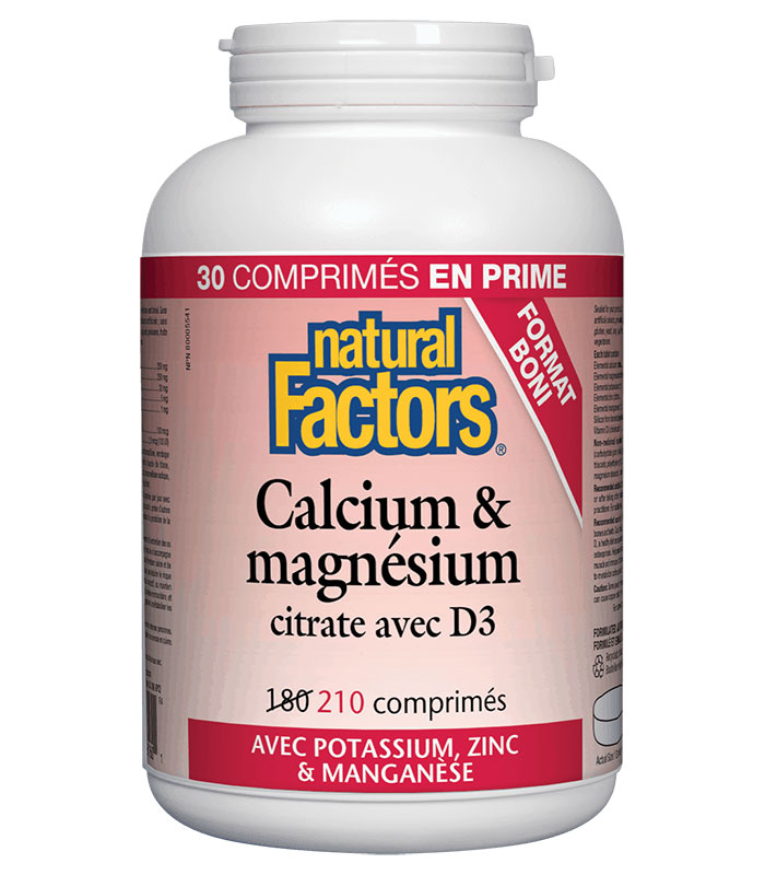 calcium et magnesium citrate d3 natural factors