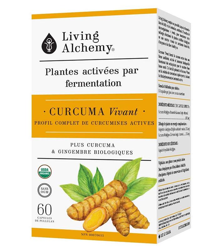 curcuma vivant fermente