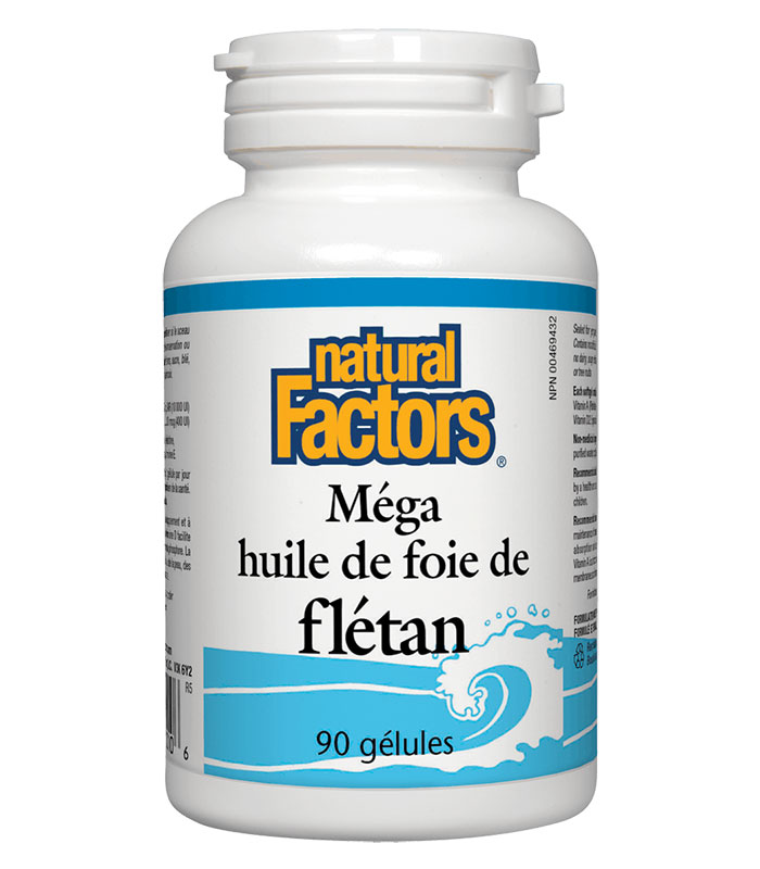 huile de foie de fletan natural factors