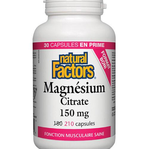 magnesium citrate natural factors