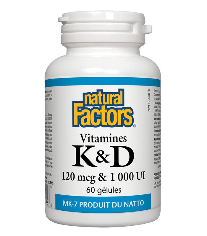 vitamine k d natural factors