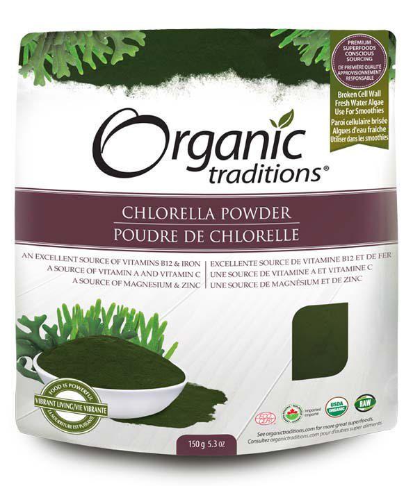 poudre chlorelle organic traditions biologique
