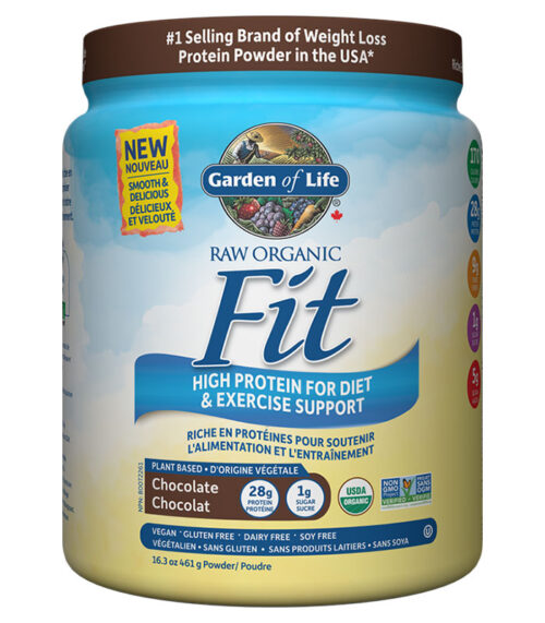 raw fit protein garden of life choco