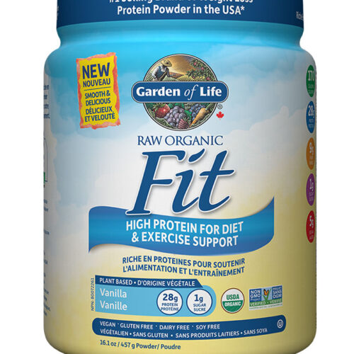 raw fit protein garden of life vanille