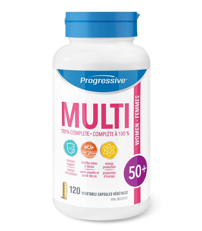 progressive multi vitamines femmes 50