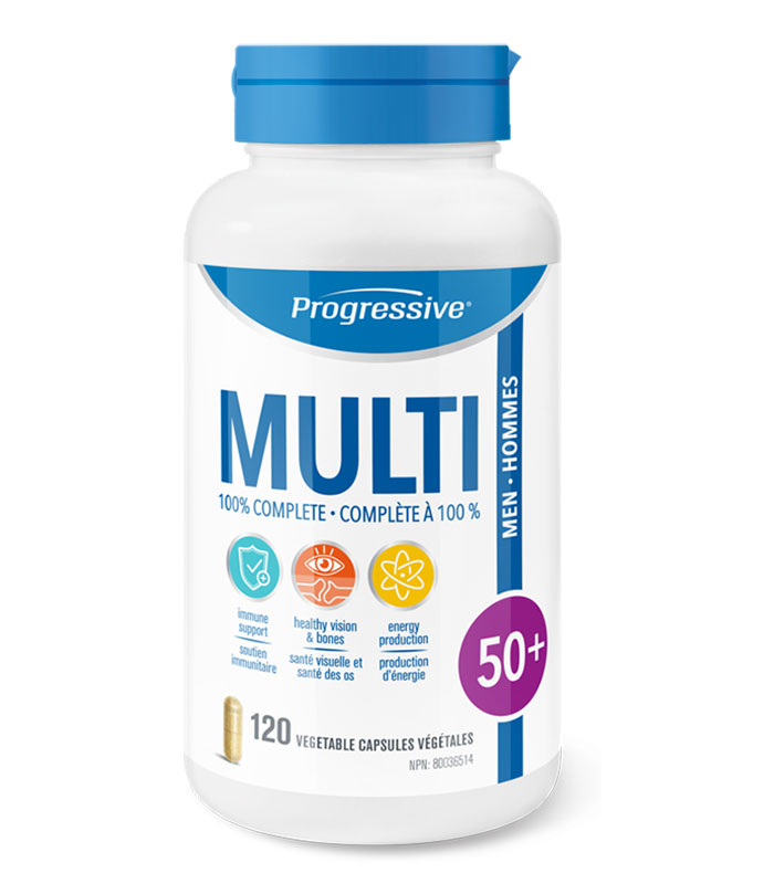 progressive multi vitamines hommes 50